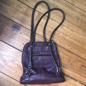 Clarks leather convertible backpack purse